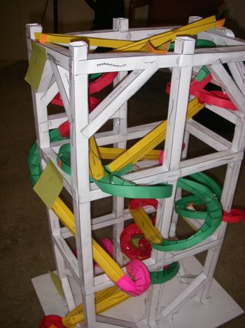 How to make a paper roller coaster creating paper for Paper roller coaster loop template